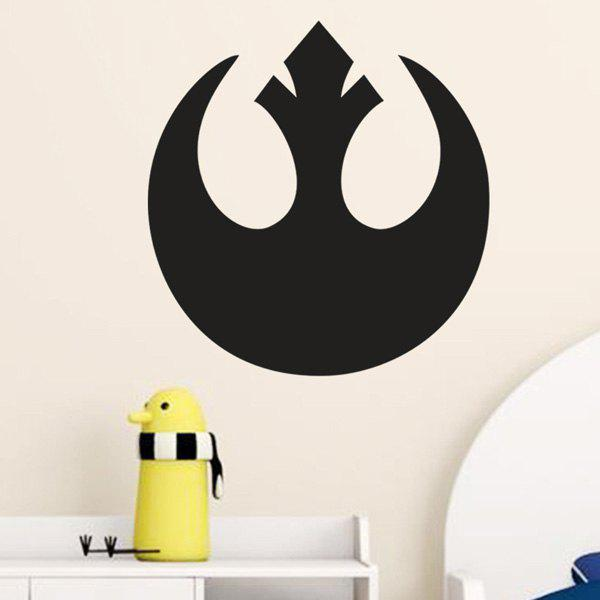 High Quality Black Pattern Removeable Wall Stickers - BLACK