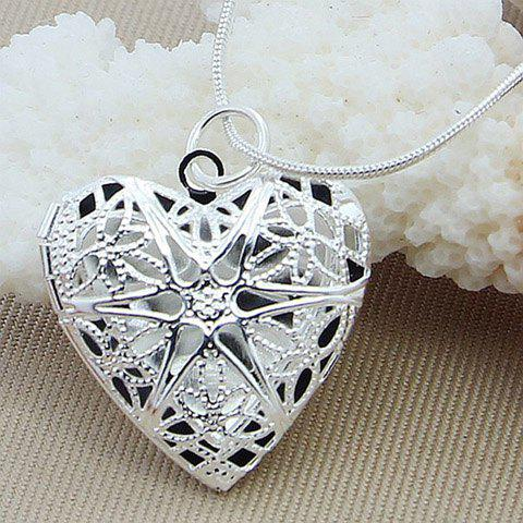 Graceful Heart Hollow Out Necklace For Women