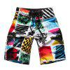Straight Leg Color Block Spliced Patch Pocket Drawstring Men's Board Shorts - COLORMIX XL