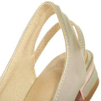 Graceful Pointed Toe and PU Leather Design Flat Shoes For Women - 39 39