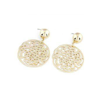 Pair of Exquisite Rose Round Earrings For Women