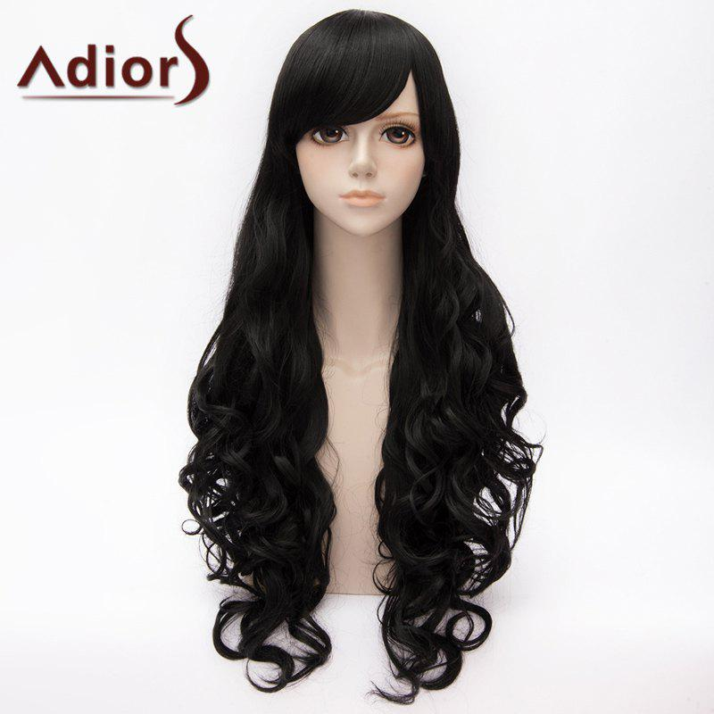 Fashion Long Side Bang Blake Belladonna Curly Cosplay Wig For Women - BLACK