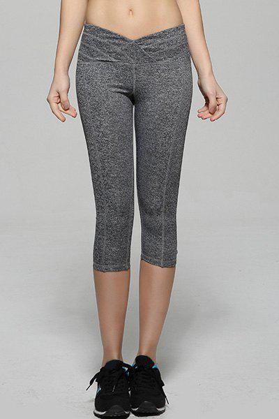 Active Women's High Stretchy Skinny Pants - DEEP GRAY M