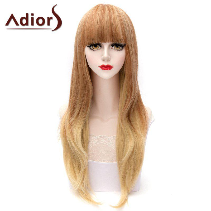 Ladylike Lolita Brown Ombre Curly Full Bang Long Cosplay Wig For Women - OMBRE 1211