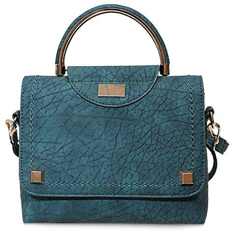Fashionable Cover and PU Leather Design Tote Bag For Women - GREEN