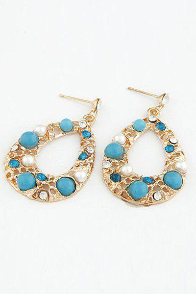 Pair of Chic Faux Pearl Decorated Water Drop Earrings For Women