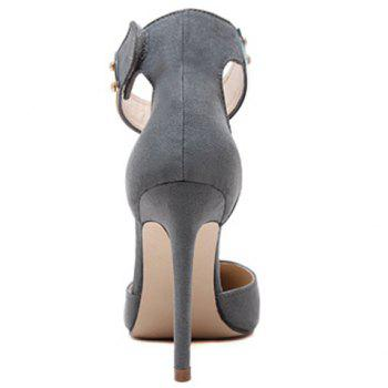 Trendy Ankle Strap and Suede Design Pumps For Women - 39 39