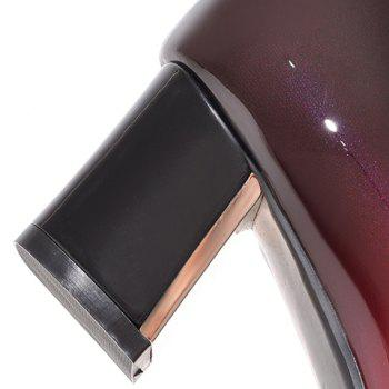 Fashion PU Leather and Gradient Design Pumps For Women - BLACK 39
