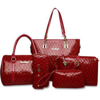 Fashionable Embossing and Solid Color Design Tote Bag For Women