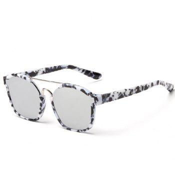 Buy Chic Metal Bar Embellished Stone Pattern Women's Sunglasses BLACK