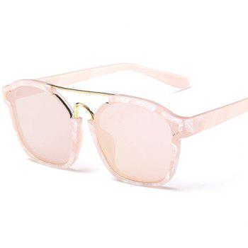 Chic Metal Bar Embellished Stone Pattern Women's Sunglasses