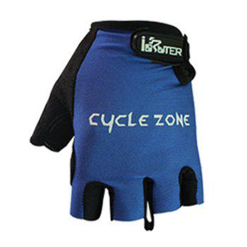 A Pair of Quality Summer Outdoor Sports Cycling Non-Slip Breathable Half Finger Gloves - BLUE L