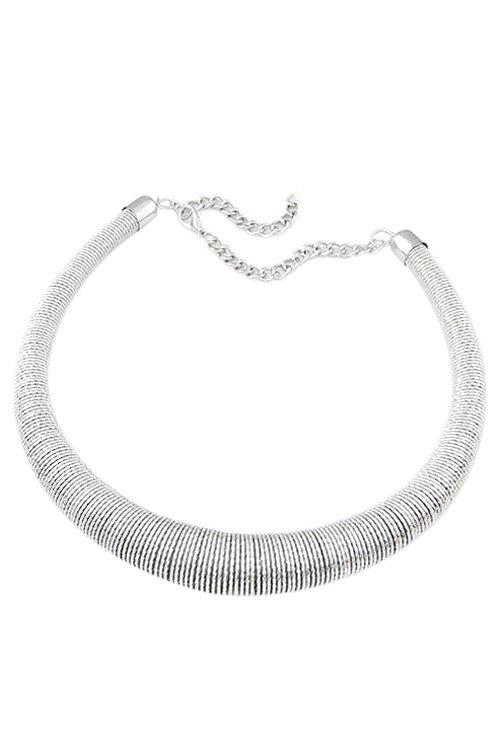 Chic Springs Chunky Necklace For Women - SILVER
