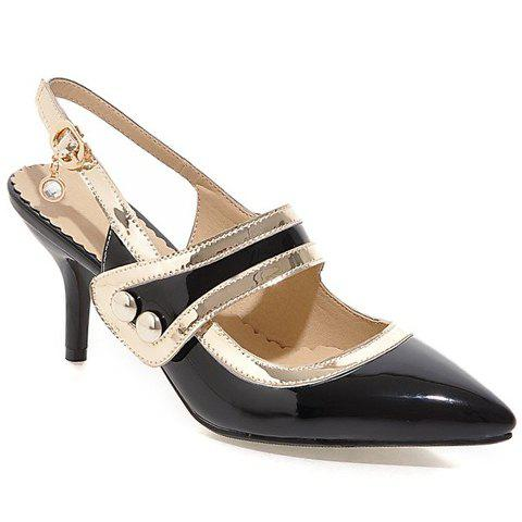 Stylish  and Slingbacks Design Pumps For Women - BLACK 35