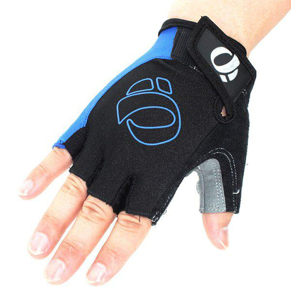 A Pair of Quality Outdoor Sports Cycling Non-Slip Breathable Half Finger Gloves - BLUE XL
