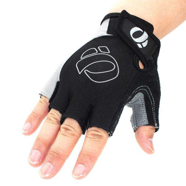 A Pair of Quality Outdoor Sports Cycling Non-Slip Breathable Half Finger Gloves - GRAY XL