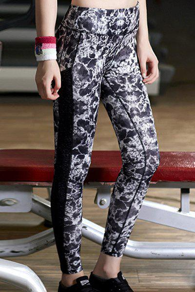 Active Women's Abstract Print Skinny Pants - COLORMIX S