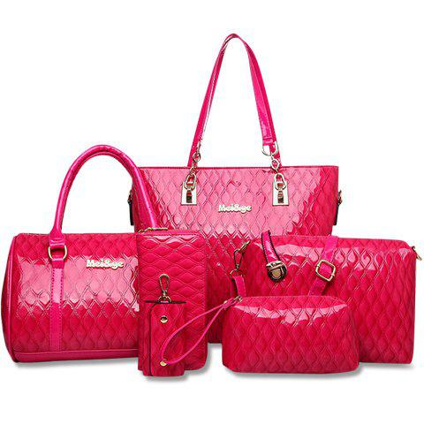 Fashionable Embossing and Solid Color Design Tote Bag For Women цена 2016