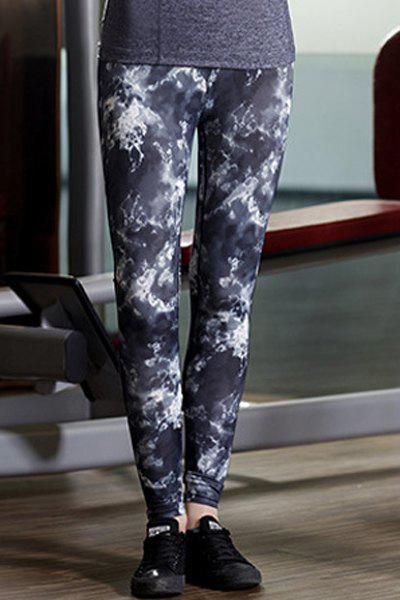 Active Women's Floral Print Skinny High Stretchy Pants - COLORMIX M