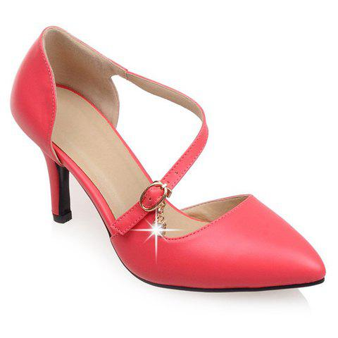Pretty Stiletto Heel and Pointed Toe Design Pumps For Women - WATERMELON RED 39