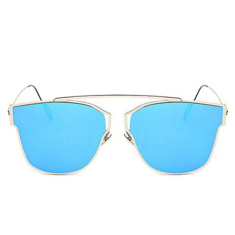 Chic Hollow Out Silver Metal Frame Women's Sunglasses