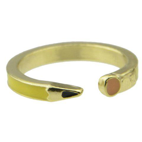 Chic Simple Style Pencil Shape Cuff Ring For Women - YELLOW ONE-SIZE