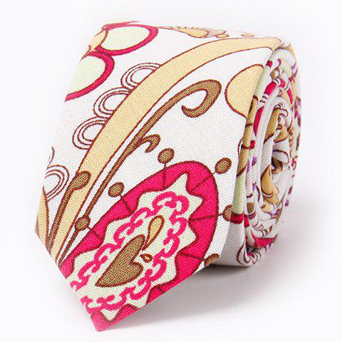 Fashionable 6.5CM Width Flax Paisley Pattern Tie For Men - ROSE