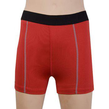 Active Stretchy Women's Yoga Shorts - RED 2XL