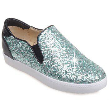 College Style Sequins and Slip-On Design Flat Shoes For Women