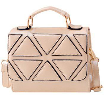 Fashion Geometric Pattern and PU Leather Design Tote Bag For Women