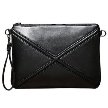 Trendy Cross and Black Design Men's Clutch Bag