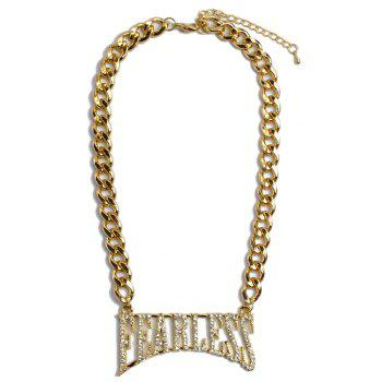 Noble Rhinestoned Letter Necklace For Women