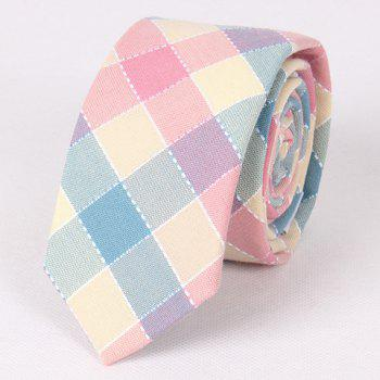 Stylish Hot Sale Colorful Plaid Jacquard Neck Tie For Men