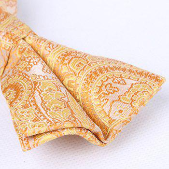 Casual Retro Style Paisley Pattern Party Bow Tie For Men - YOLK YELLOW