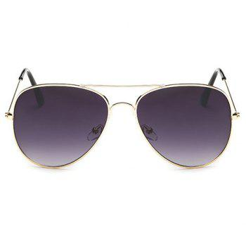 Chic Gradual Color Lenses Metal Frame Women's Sunglasses - DEEP PURPLE DEEP PURPLE