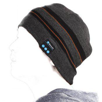 Vente Hot Sports de plein air Casque Bluetooth Président Mic Stripe Motif Hiver Bonnet tricoté