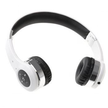 Hot Sale Outdoor Sports Bluetooth Speaker Mic Telescopic Foldable Headphones -  WHITE