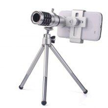 Hot Sale 12X Wide Angle Monocular Telescope For Mobile Phone Lens with Universal Clip and Tripod