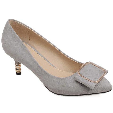 Simple Slip-On and Suede Design Pumps For Women - GRAY 38