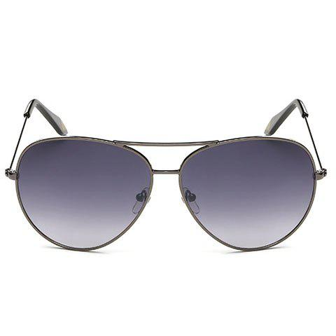 Fashionable Metal Frame Sunglasses - PURPLE
