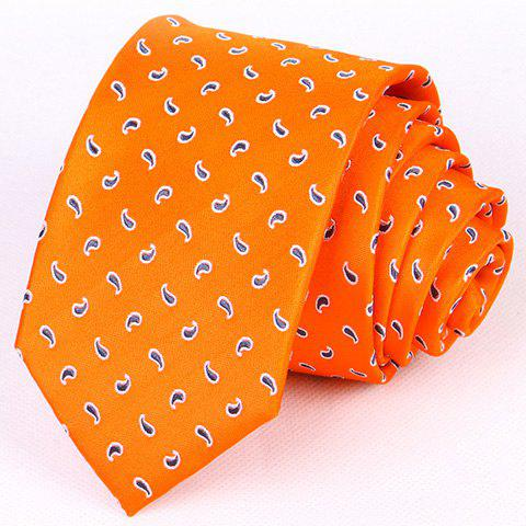 Hot Sale Stylish 7CM Width Paisley Dot Pattern Tie For Men - ORANGE RED