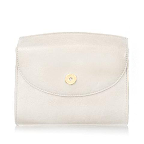 Concise Cover and PU Leather Design Crossbody Bag For Women - WHITE