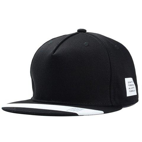 Stylish White Wide Stripe Pattern Brim Men's Baseball Cap