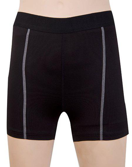 Active Stretchy Women's Yoga Shorts - BLACK 2XL