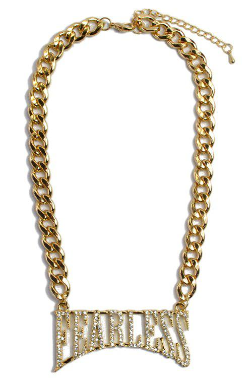 Noble Rhinestoned Letter Necklace For Women - GOLDEN