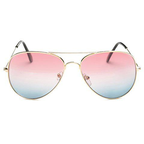 Chic Gradual Color Lenses Metal Frame Women's Sunglasses