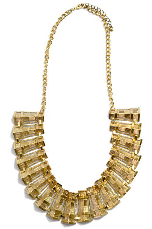 Chic Solid Color Wave Necklace For Women - GOLDEN