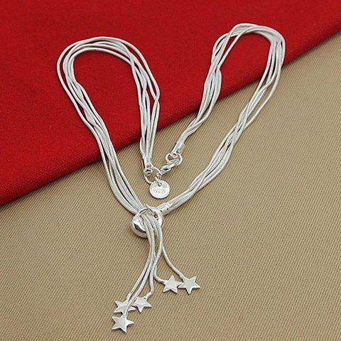 Layered Star Necklace - SILVER