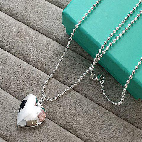Trendy Solid Color Heart Pendant Necklace For Women