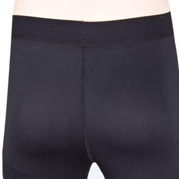 Simple Elasitc Waist Fitted Solid Color  Women's Pants - BLACK M
